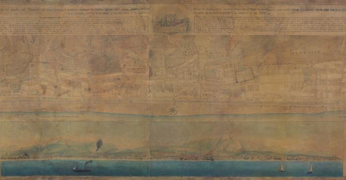 <p>Plano geom&eacute;trico del Masnou, Miquel Garriga i Roca (Alella, 1804 - Barcelona, 1888), 1846, tinta sobre papel</p>