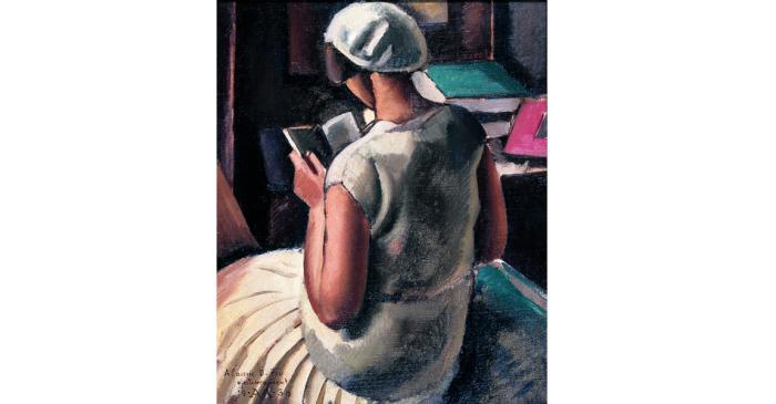 <p><em>Noia d&rsquo;esquena llegint</em> (Girl Reading with her Back Turned), Antoni Vila Arrufat, 1930, oil on canvas, 60 &times; 50 cm</p>