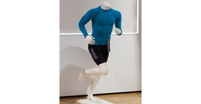 <p><strong>Conjunto de camiseta y mallas deportivas</strong></p> <p>Colecci&oacute;n Wong Sport</p> <p>Vilaseca S.A. (Matar&oacute;)</p> <p>Foto: Eusebi Escarpenter</p> <p>Museu de Matar&oacute;</p>