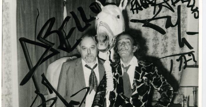 <p>Joan Abell&oacute; and Salvador Dal&iacute; inside the Hotel Ritz, 1970</p>