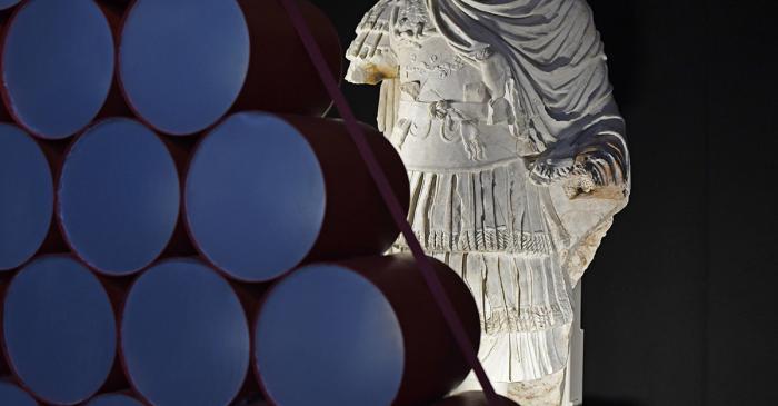 <p>Statue cuirass&eacute;e qui d&eacute;corait le <em>frons scaenae</em> du Th&eacute;&acirc;tre de Tarraco</p>