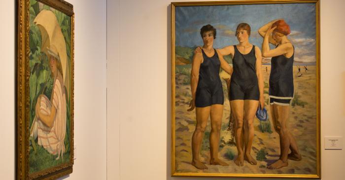 <p>Banyistes, Francesc Vayreda, 1920. Oli sobre tela (145x120 cm). Col&middot;lecci&oacute; particular: obra en dip&ograve;sit al Museu de la Garrotxa.</p>