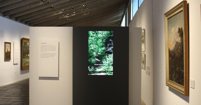 <p>Fotografia de l'Espai pantalla Escola d'Olot. Museu de la Garrotxa</p>