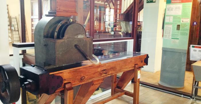 """<p>El rociador de la antigua harinera """"Sant Salvador"""" de Figueres.</p>"""