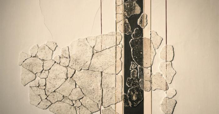<p>Pinturas de estilo pompeyano que decoraban las paredes de dos habitaciones de la <em>domus</em>.</p>