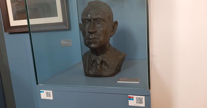 <p>Bust of Salvador Espriu<em>.</em> Arenys de Mar Museum, inventory no. 1479. Photograph by Irene Masriera.</p>