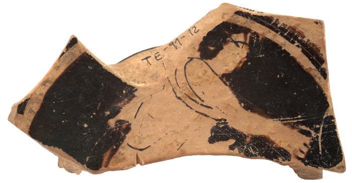 <p>Fragment de copa del poblat ib&egrave;ric de la Torre dels Encantats, Arenys de Mar. Museu d&rsquo;Arenys de Mar, n&uacute;m. de registre 3685. Fotografia de David Casta&ntilde;eda.</p>