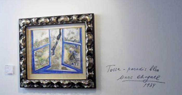 <p>&laquo; El Violinista Celest &raquo;, 1934.&nbsp;Marc Chagall.</p>