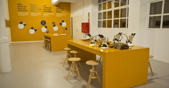 <p>Espacio de participaci&oacute;n de los visitantes en la exposici&oacute;n &ldquo;Cork in Progress&rdquo;. Archivo de Im&aacute;genes del Museo del Corcho de Palafrugell.</p>