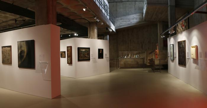 <p>Exposici&oacute; &laquo;Mirades i di&agrave;legs&raquo;. Foto Pere Cornellas, 2014</p>