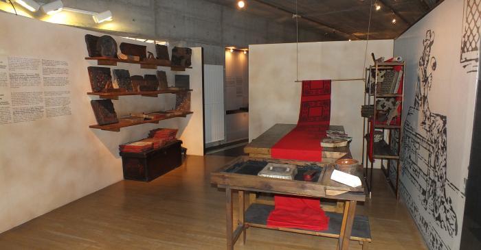 <p>Atelier de manufacture d'impression traditionnelle au cadre plat</p>