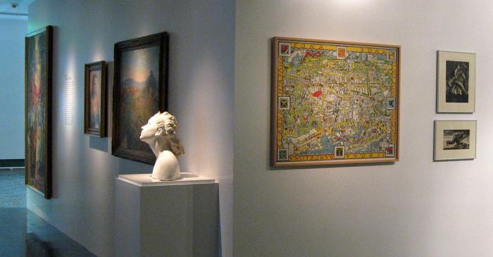 <p>Detalle de la sala dedicada a la colonia novecentista</p>