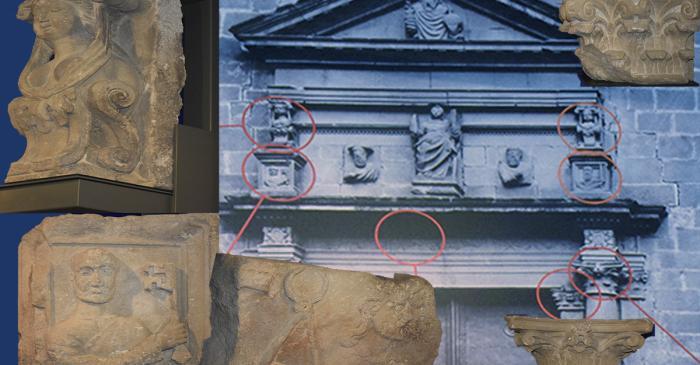 <p>Elements art&iacute;stics que es van poder salvar de l&rsquo;esgl&eacute;sia de Santa Eul&agrave;lia de M&egrave;rida, enderrocada l&rsquo;any 1936</p>