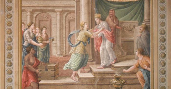 <p>Pintura mural de la Sala del Judici de Salom&oacute;. Foto: Museu de Terrassa</p>