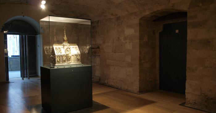 <p>Vue d'une d&eacute;pendance du monast&egrave;re qui abrite aujourd'hui le coffret de Sant Martiri&agrave;</p>