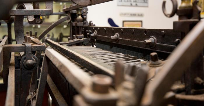 <p>El museu exposa una gran quantitat de maquin&agrave;ria t&egrave;xtil, tant d&rsquo;&uacute;s familiar com industrial</p>