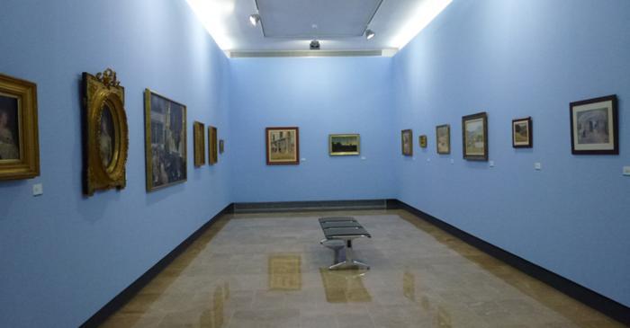 <p>Vista general de la sala de pintors del segle XIX.</p>