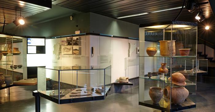 <p>Vue g&eacute;n&eacute;rale de la salle de protohistoire, situ&eacute;e au-dessus du clo&icirc;tre de la cath&eacute;drale de Solsona</p>