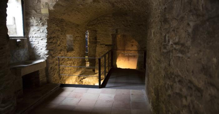 <p>The 15th century mikveh interpretative space.</p>