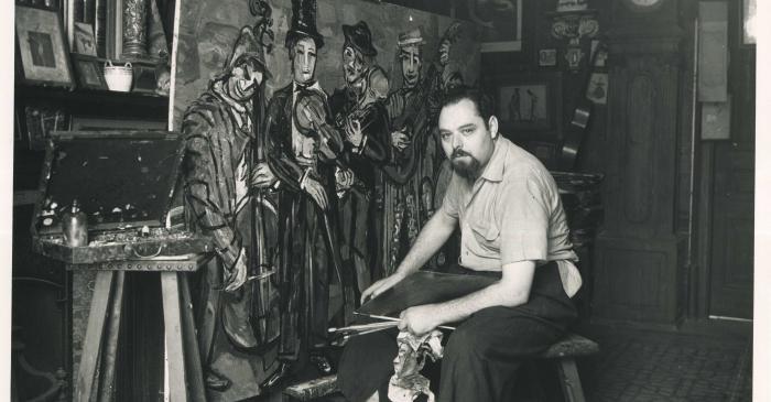 <p>Joan Abell&oacute; dans le mas de Can Pellicer en 1961</p>