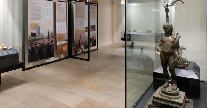 <p>Interior del museo, con las salas dedicadas a la arqueolog&iacute;a.</p>