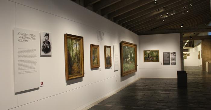 <p>Gallery dedicated to the artist Joaquim Vayreda. Photo: Blai Farran.</p>