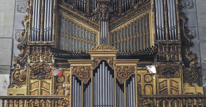 <p>Fotografia de l'orgue monumental. Autor: Ramon Manent</p>