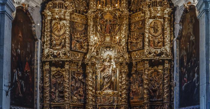 <p>Photo of the altarpiece of El Roser. Author: Ramon Manent</p>