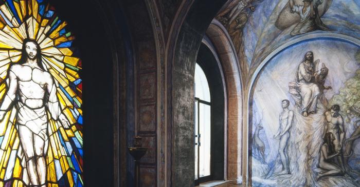 <p>Photograph of the baptistry. Photographer: Ramon Manent</p>