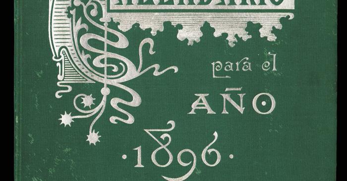 <p>Cubierta de<em> Calendario para el a&ntilde;o 1896</em>, de la casa Henrich y Cia., 1896</p>