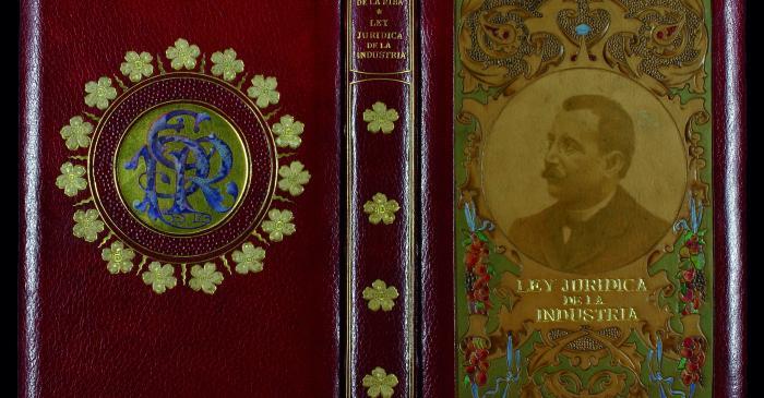 <p><strong>Enric Prat de la Riba i Sarr&agrave; </strong></p> <p><em>Ley jur&iacute;dica de la industria,</em> 1898</p> <p>Biblioteca de Catalunya, Barcelona</p>