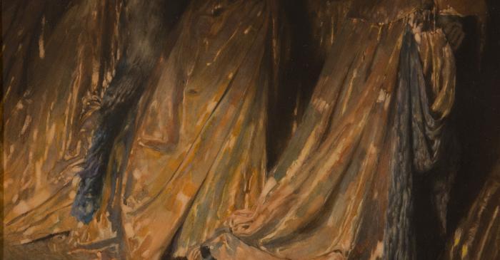 <p><em>Els Hip&ograve;crites. Vestits amb magn&iacute;fiques capes daurades per fora, per&ograve; de pesat plom per dins (La Divina Comedia) </em></p> <p>1929 1928</p> <p>Aquarel&middot;la sobre paper</p> <p>Col&middot;lecci&oacute; particular</p>