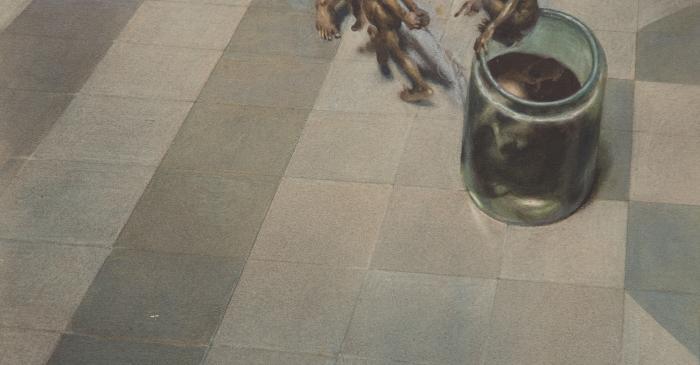 <p><em>Malson. El pot de cristall </em></p> <p>1929</p> <p>Aquarel&middot;la sobre paper</p> <p>Casa-Museo Jos&eacute; Segrelles, Albaida (Val&egrave;ncia)</p>