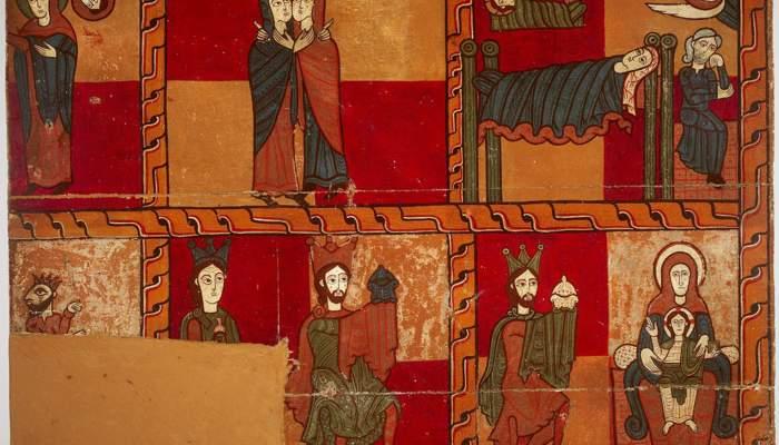 <p>Lateral d&rsquo;altar de l&rsquo;esgl&eacute;sia de Sant Andreu de Sag&agrave;s (Bergued&agrave;), &uacute;ltim quart del s. XII.</p>