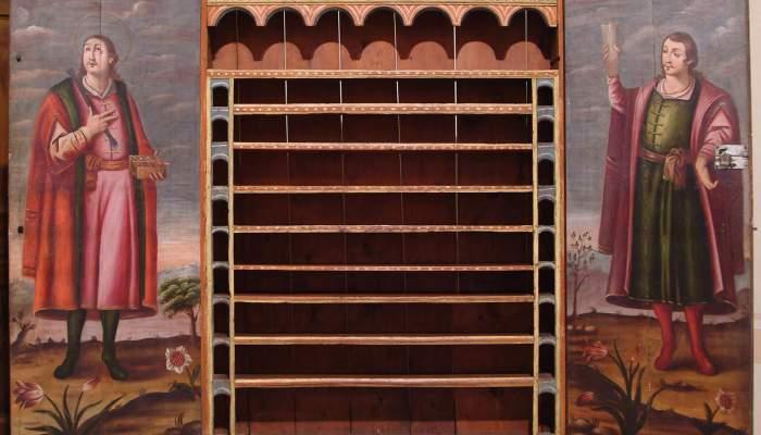 <p>Armario de la farmacia Pallar&egrave;s de Solsona, s. XVII.</p>
