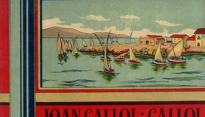 <p>Etiqueta de papel impreso para los tarros de anchoa de la f&aacute;brica de Joan Callol i Callol, de principios del s. XX.</p>