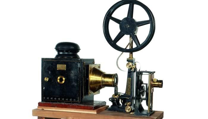 <p>Projector cinematogr&agrave;fic Cin&eacute;matographe Lumier&egrave; (1897).</p>