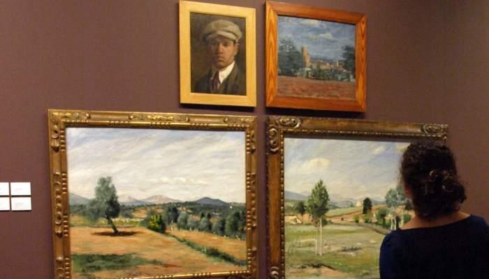 <p>Mari&agrave; LLavanera Miralles (Llad&oacute; 1890 - 1927). <em>Les oliveres</em>, 1920. Oli sobre tela. 71 x 86,5 cm.</p>