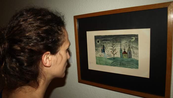 <p>Joan Pon&ccedil; Bonet (Barcelona 1927 - Saint Paul de Vence 1984). <em>Paisatge </em>(Landscape), 1949. Monotype. 17 x 25&nbsp;cm.</p>