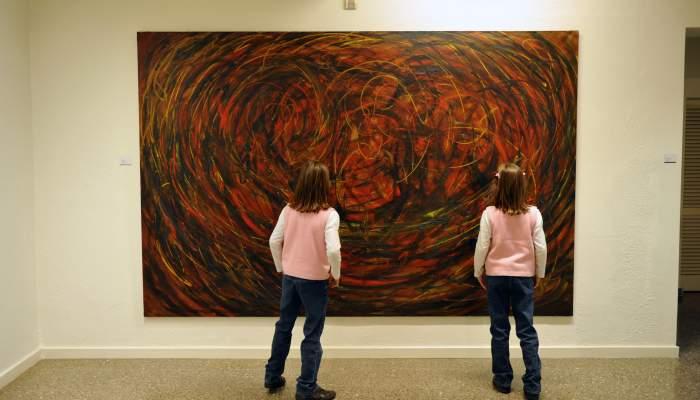 <p>Evarist Vall&egrave;s Rovira (Pierola 1923 - Figueres 1999). <em>Abstracci&oacute; c&ograve;smica</em>, 1963. Oli sobre tela. 197 x 300 cm.</p>