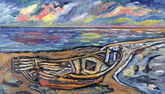 <p><em>La Barca Astillada</em>, Josep Albert&iacute;, 1983. &Oacute;leo sobre tela.</p>