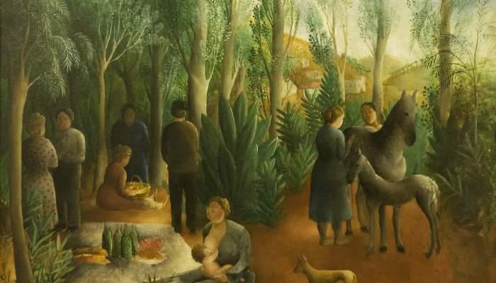 <p><em>Pique Nique (P&iacute;cnic)</em>, 1916 - 1918. Olga Sacharoff (Tiflis, 1889 &ndash; Barcelona, 1967).</p>