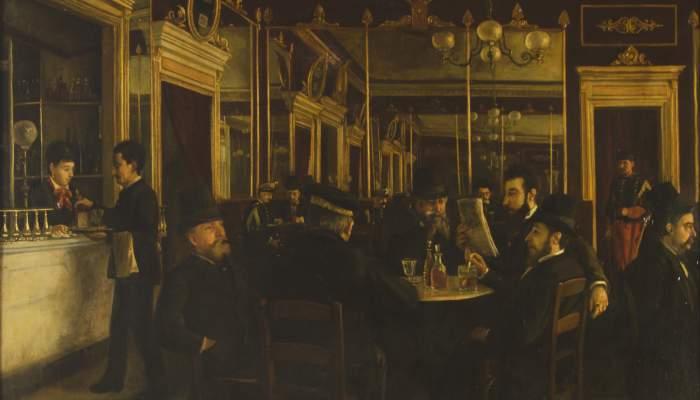 <p><em>El caf&egrave; Vila</em>, Jaume Pons Mart&iacute;, 1877. Oli sobre tela, 85 x 68 cm. Museu d&#39;Art de Girona - Fons d&#39;Art Diputaci&oacute; de Girona.</p>