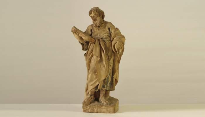 <p>Sculpture de saint Paul, &oelig;uvre de Jaume Padr&oacute;, faite en terre cuite polychrom&eacute;e (1775-1803). MCC. Photo: Sebasti&agrave; Caus.</p>