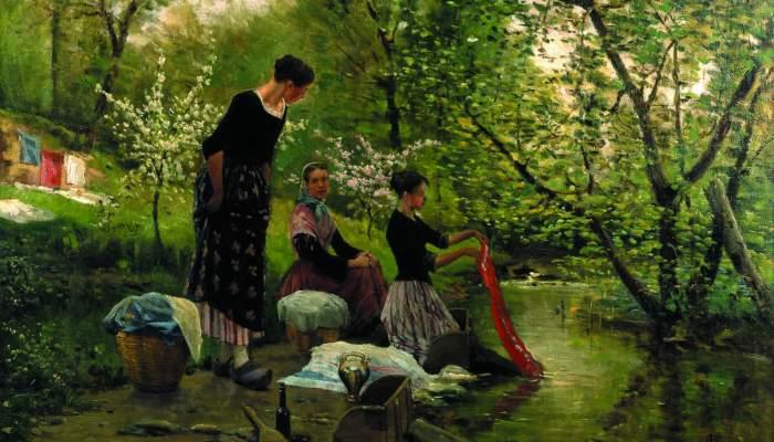 "<p><em>""</em>Les bugaderes"", Joaquim and Mari&agrave; Vayreda, 1883. Oil on canvas.</p>"