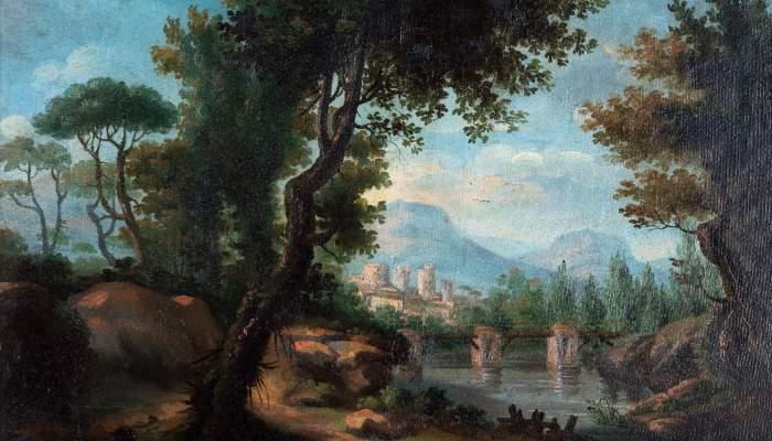 <p>No title (landscape), Joan Carles Pany&oacute; i Figar&oacute;, 1802 and 1840. Oil on wood.</p>