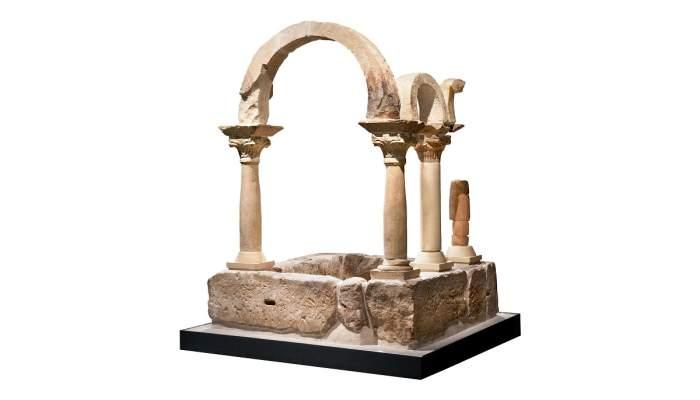 <p>Baptisteri que s&rsquo;ubicava als peus de la bas&iacute;lica paleocristiana del Bovalar (Ser&ograve;s).</p>