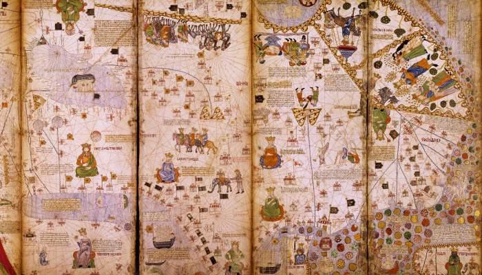 <p>Atles Catal&agrave;. 1373, Mallorca. Reproducci&oacute; (original a la Biblioth&egrave;que Nationale de France, Par&iacute;s)</p>