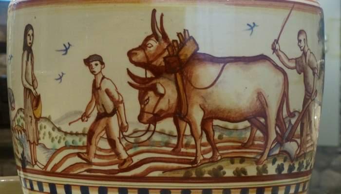 <p><em>El pa</em> o <em>El blat</em>, Josep Aragay, 1928. Gerra de ceràmica.</p>