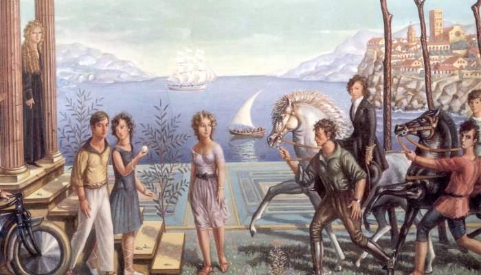 <p><em>Vacances,</em> Josep Aragay 1923. Huile sur toile.</p>